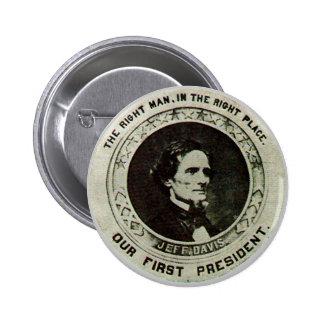 Jeff Davis - botón Pin Redondo De 2 Pulgadas
