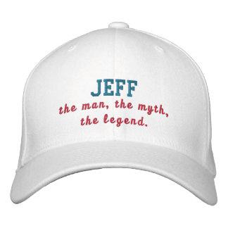 Jeff el hombre gorra de beisbol bordada