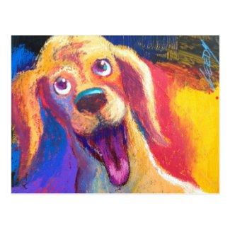 Jeff Leedy | Happy Cocker Postcard