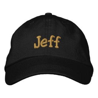 Jeff personalizó la gorra de béisbol/el gorra gorra bordada