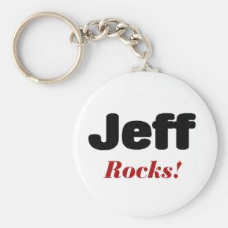 Jeff rocks key chain