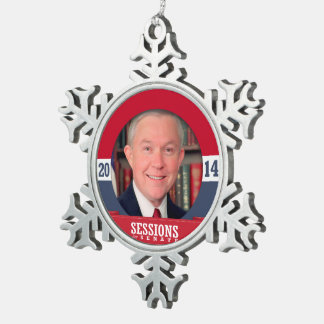 JEFF SESSIONS CAMPAIGN SNOWFLAKE PEWTER CHRISTMAS ORNAMENT