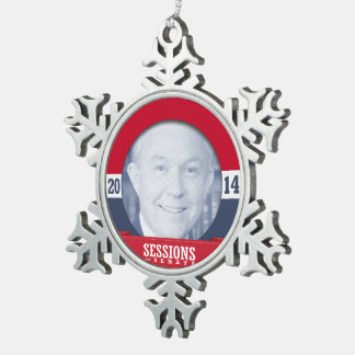 JEFF SESSIONS --.png Snowflake Pewter Christmas Ornament