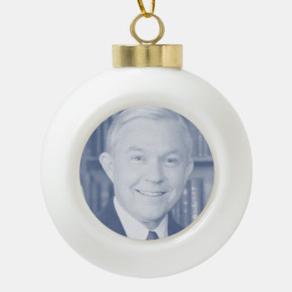 JEFF SESSIONS --.png Ceramic Ball Christmas Ornament