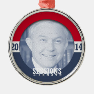 JEFF SESSIONS --.png Round Metal Christmas Ornament
