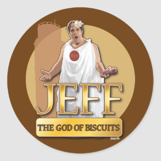 Jeff - The God of Biscuits Classic Round Sticker