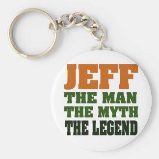 Jeff - the Man, the Myth, the Legend! Keychain