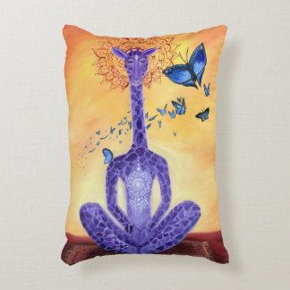 Jeff the Meditating Giraffe Decorative Pillow