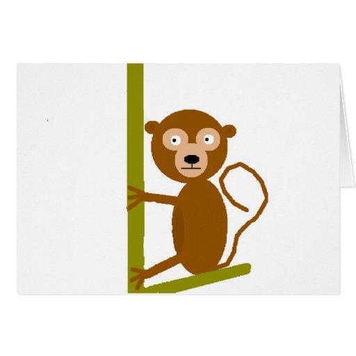 Jeff the Monkey Greeting Card