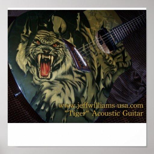"Jeff Williams poster de la guitarra acústica del """