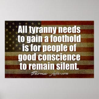 Jefferson: All tyranny needs... Poster