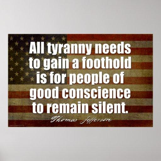 Jefferson: All tyranny needs... Print