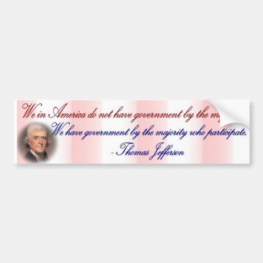 Jefferson - American Participate Bumper Sticker