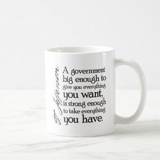 Jefferson: Beware of Big Government Classic White Coffee Mug