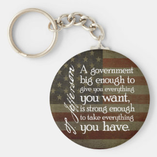 Jefferson: Beware of Big Government Keychain