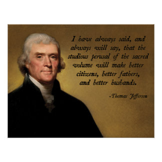 Jefferson Bible Quote Poster