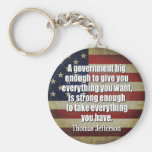 Jefferson: Big Governement will take everything... Basic Round Button Keychain