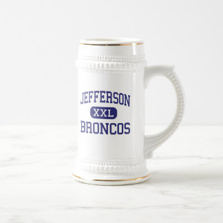 Jefferson - Broncos - High School - Dayton Ohio 18 Oz Beer Stein