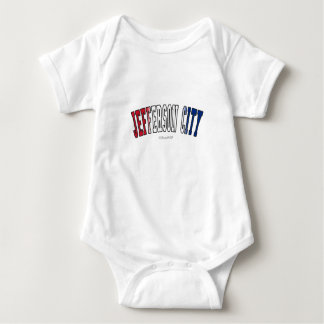Jefferson City in Missouri state flag colors Baby Bodysuit