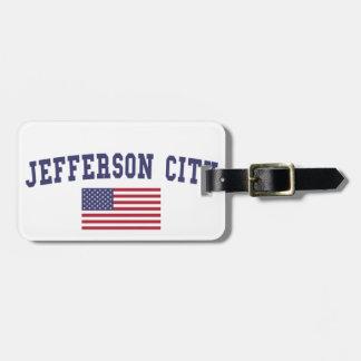 Jefferson City US Flag Luggage Tag