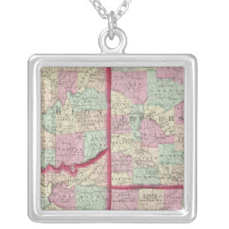 Jefferson, Clarion, Indiana, Armstrong counties Square Pendant Necklace