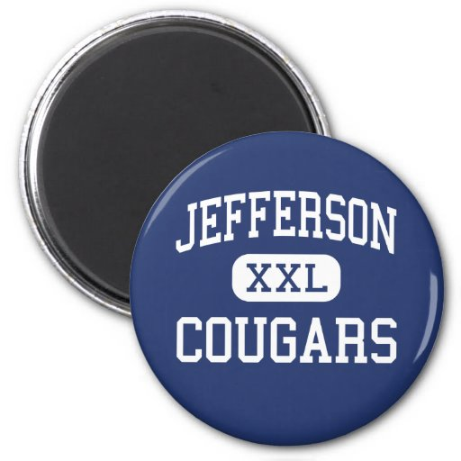 Jefferson Cougars Middle Madison Wisconsin Magnet