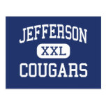 Jefferson Cougars Middle Madison Wisconsin Postcards