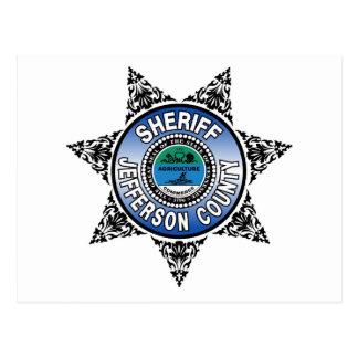 Jefferson County Tennessee Sheriff Badge Postcard