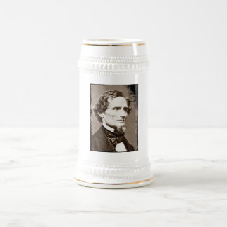 Jefferson Davis Beer Stein 18 Oz Beer Stein