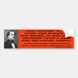 Jefferson Davis, Bumper 2 Bumper Sticker