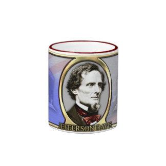 Jefferson Davis Civil War Ringer Coffee Mug