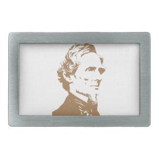 Jefferson Davis Hebillas Cinturon Rectangulares
