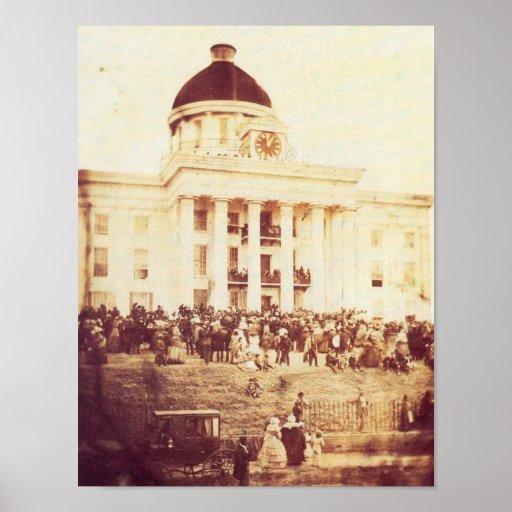 Jefferson Davis inaugural Impresiones