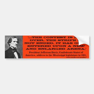 Jefferson Davis, parachoque 2 Pegatina Para Auto