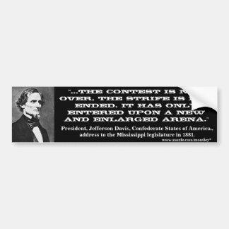 Jefferson Davis, parachoque 4 Pegatina Para Auto