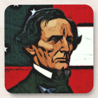 Jefferson Davis, President of the Confederacy Coasters