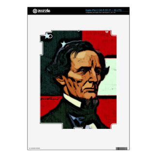 Jefferson Davis President of the Confederacy Decal For iPad 3