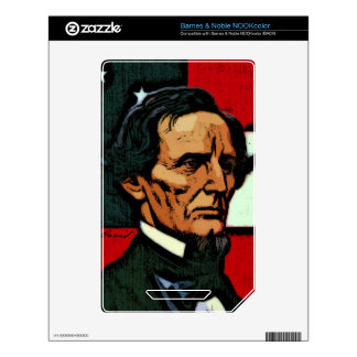 Jefferson Davis President of the Confederacy Skins For The NOOK Color