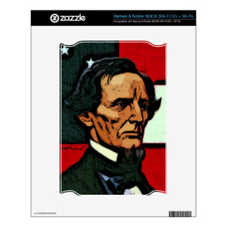 Jefferson Davis President of the Confederacy Decal For NOOK