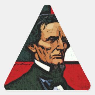 Jefferson Davis, President of the Confederacy Triangle Sticker