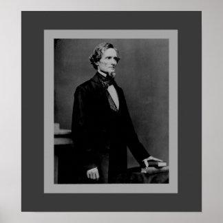 Jefferson Davis - presidente de la guerra civil Poster