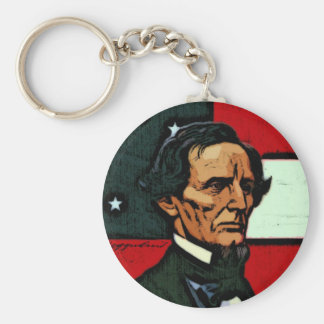 Jefferson Davis, presidente del Confederacy Llavero Redondo Tipo Pin