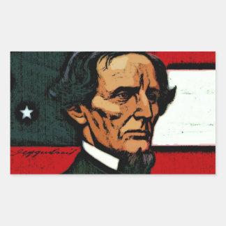Jefferson Davis presidente del Confederacy Etiquetas