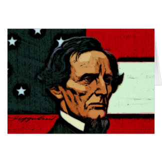 Jefferson Davis, presidente del Confederacy Tarjeta De Felicitación