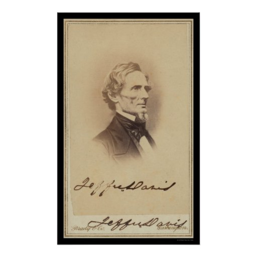Jefferson Davis Signed Card 1860 Posters