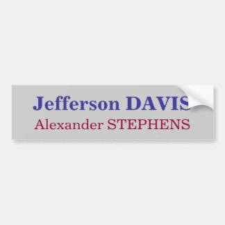 Jefferson Davis, STEPHENS de Alexander Pegatina Para Auto