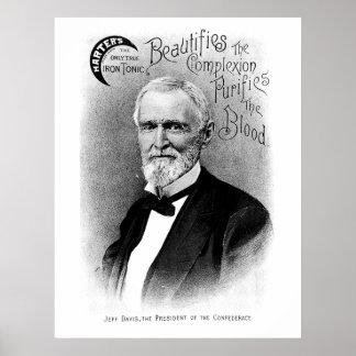 Jefferson Davis Vintage Advertisement Poster