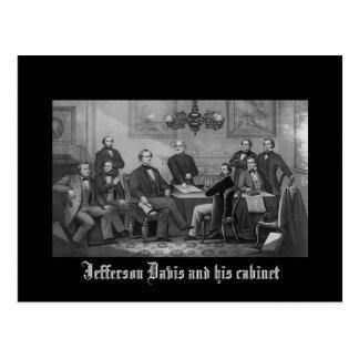 Jefferson Davis y su gabinete Tarjeta Postal