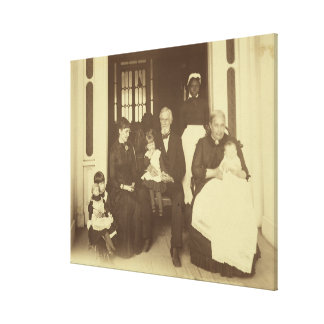 Jefferson Davis y tres generaciones de E. Wilson Impresión En Lona Estirada