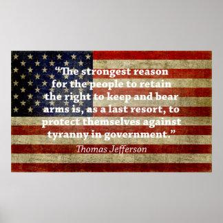 Jefferson: Derecho llevar los brazos Posters